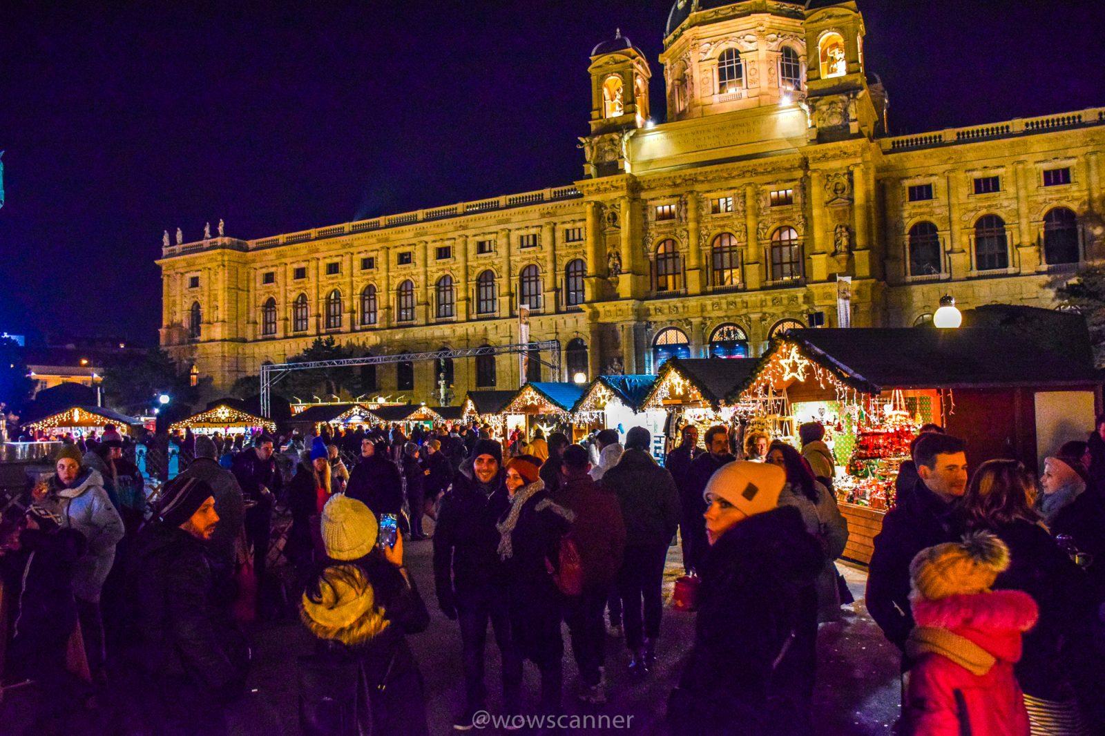 Рождественская, Новогодняя Ярмарка Вены на Площади Марии Терезии - Maria Theresien-Platz (Марии Терезиен Плац).
